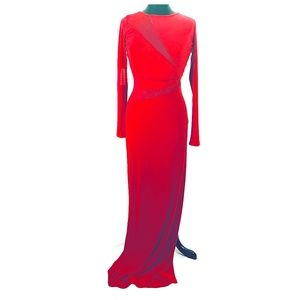 Symphony Very Elegant Red Maxi Women's Dress SZ M
